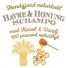 Havre & Honungsschampo - 100% Naturligt