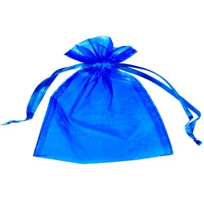 Presentpåse Organza Kungsblå